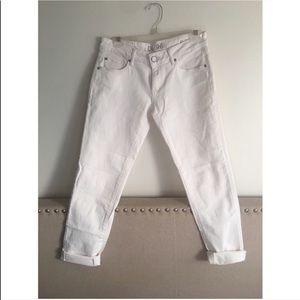 White Boyfriend Jeans